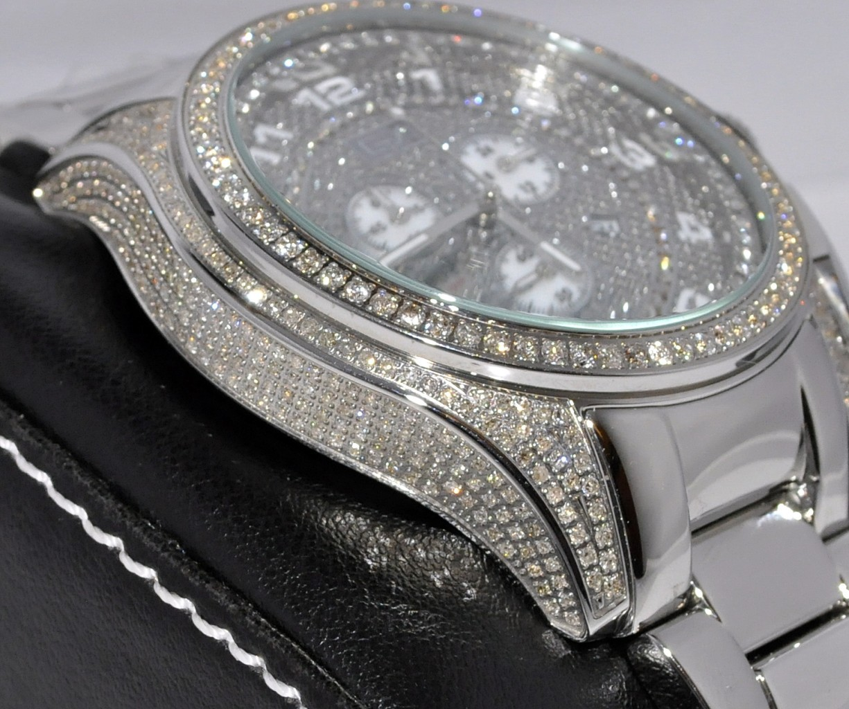loading itm swiss diamond watch cartier watches s mens image luxury santos is wrist