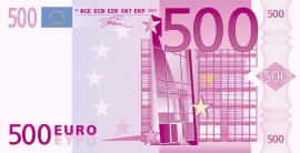 elimination of 500 euro note close at hand the diamond loupe. Black Bedroom Furniture Sets. Home Design Ideas