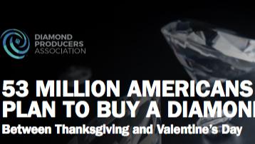 5300万美国人计划在感恩节及情人节期间购买钻石