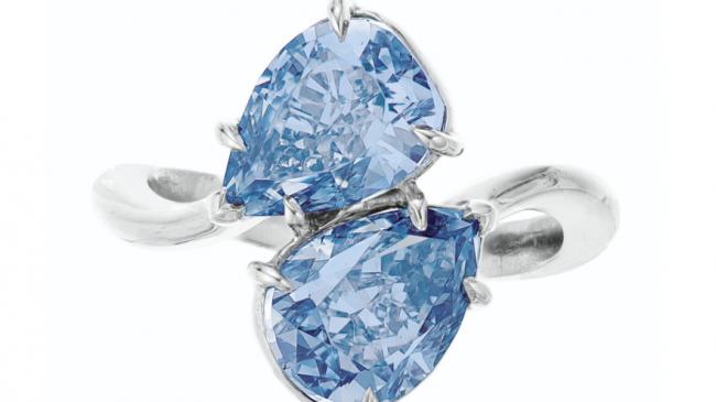 Twin Blue Diamonds Lead Christie's Auction at $7M