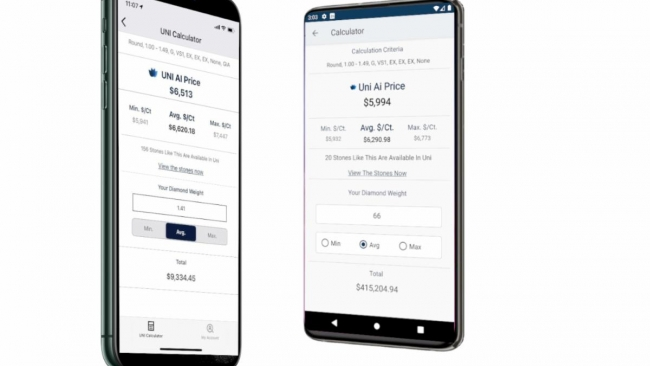 UNI Diamonds Launches AI-powered Diamond Price App