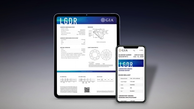 GIA's New Reports Grade LGD's 4C's & Colour